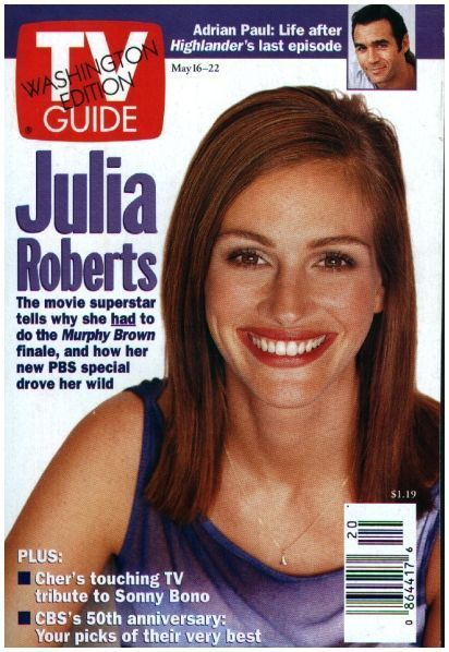 Julia on the cover of TV Guide May 1999